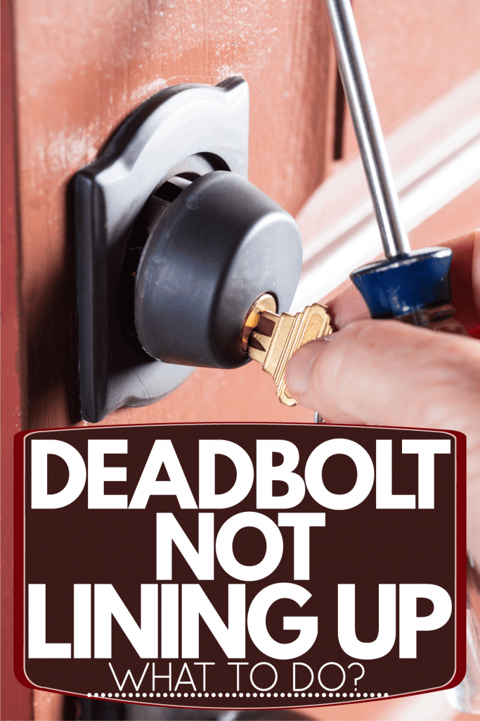 A deadbolt photographed on a white background. Deadbolt Not Lining Up - What To Do?