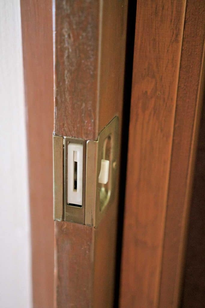 Wooden pocket door