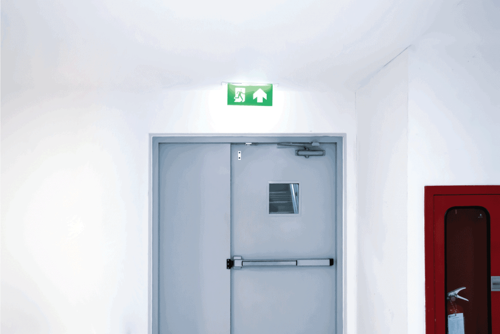 exit gate or fire exits in the building Ideas for evacuation drills in the event of a fire