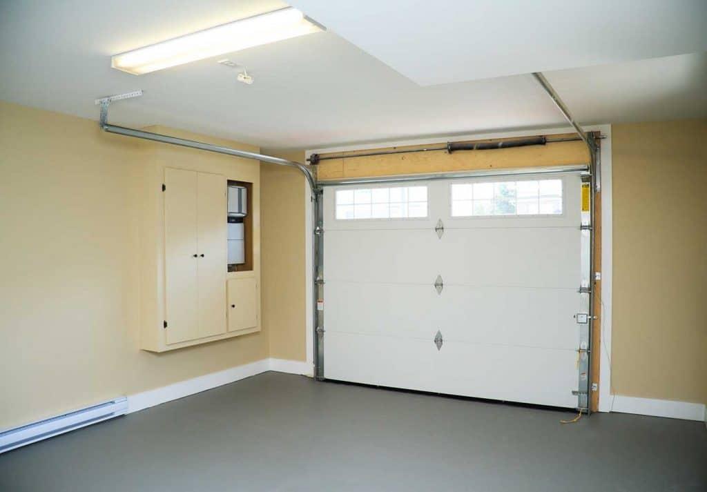 Empty interior of modern garage