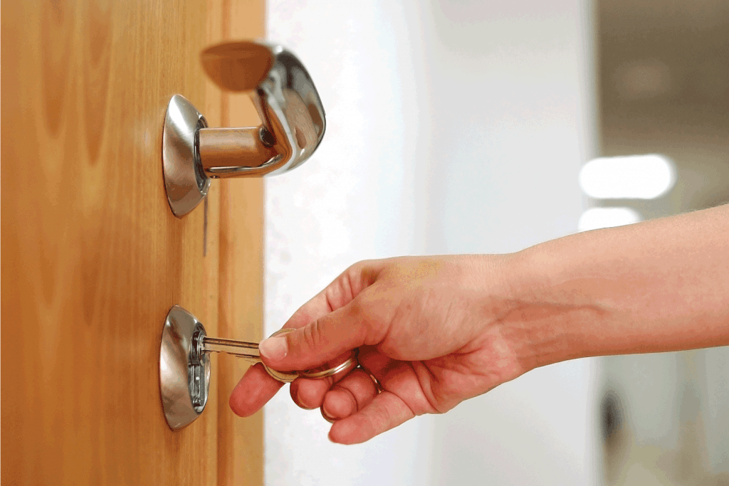 Locking up or unlocking the door with a key in hand. Can You Make A Key From A Lock