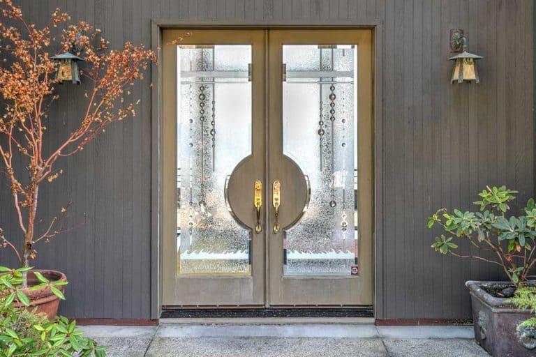 Luxurious front door entry to house, How Strong And Secure Are Fiberglass Exterior Doors?