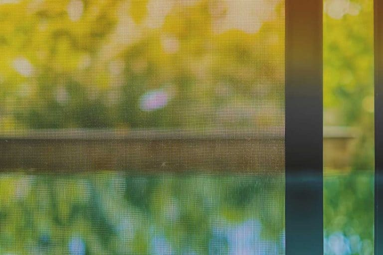 Opened door wire mesh screen with blurred natural background, How To Clean An Aluminum Screen Door