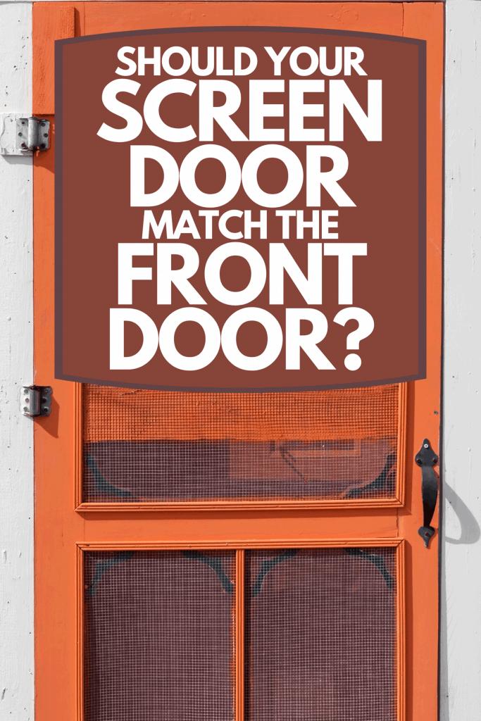 A brightly painted red front door, Should Your Screen Door Match The Front Door?