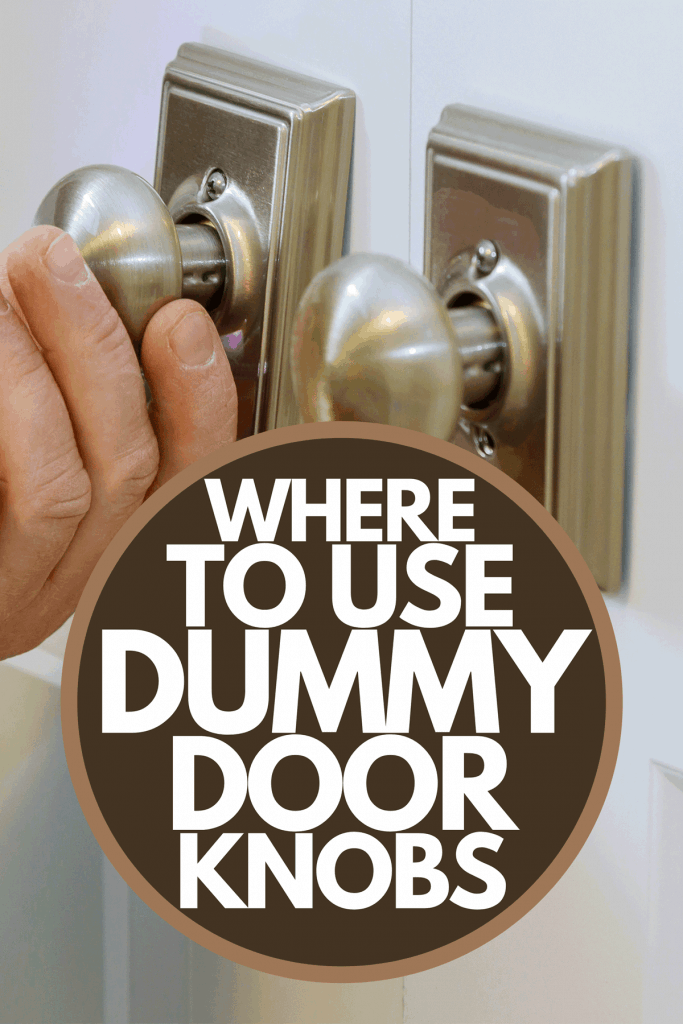A locksmith worker installing a new dummy lock in house on door, Where To Use Dummy Door Knobs