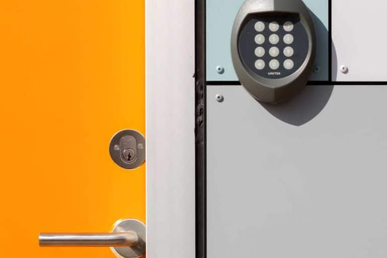 Yellow door with electronic lock, How To Turn Off Door Chime On Alarm System - By Brand
