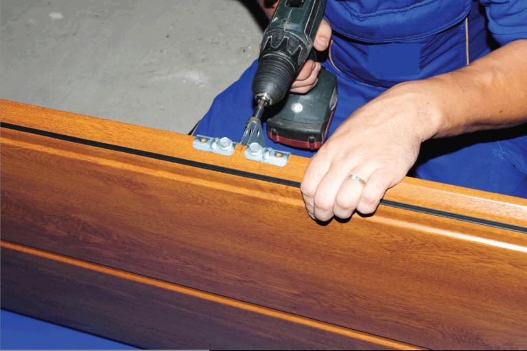 door panel. Constractor is repairing and installing. Can You Drill Holes In Fiberglass Doors