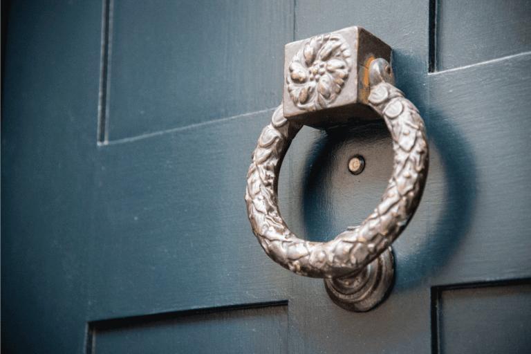 old metal door locker. polished brass. How To Install A Door Knocker On A Fiberglass Door