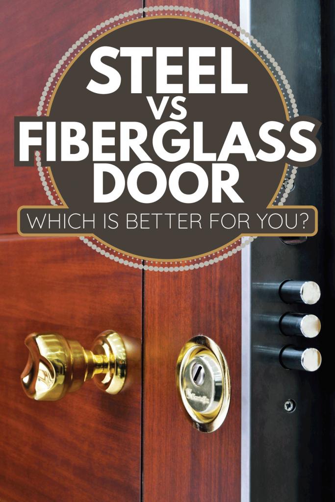 steel front door with wooden paint design. Steel Vs Fiberglass Door - Which Is Better For You