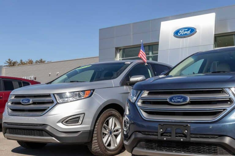Ford SUV display at a dealership, How To Lock And Unlock A Ford Escape With Keypad