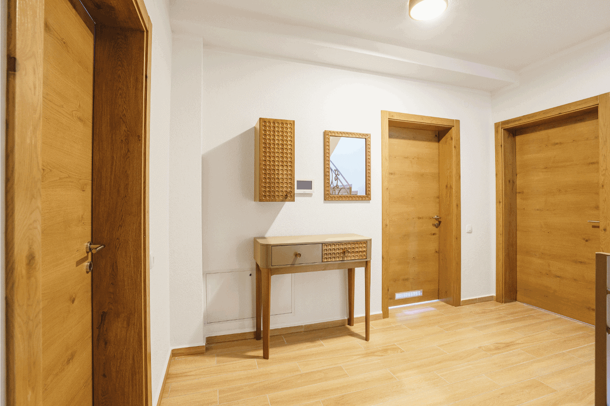 Interior of an empty hall in a luxury villa. How To Make A Pine Door Look Like Oak