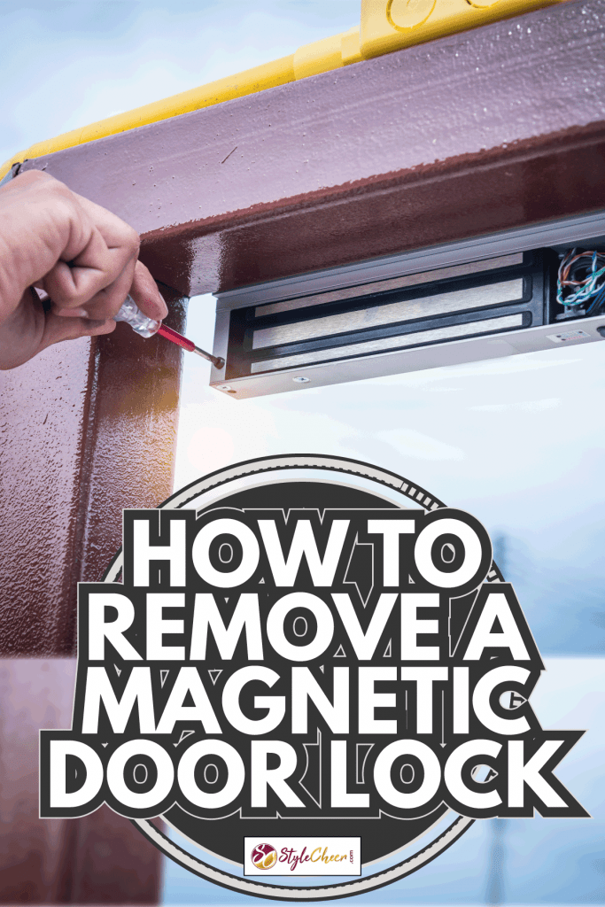 Technician installing Magnetic system on the door for control security system. How To Remove A Magnetic Door Lock
