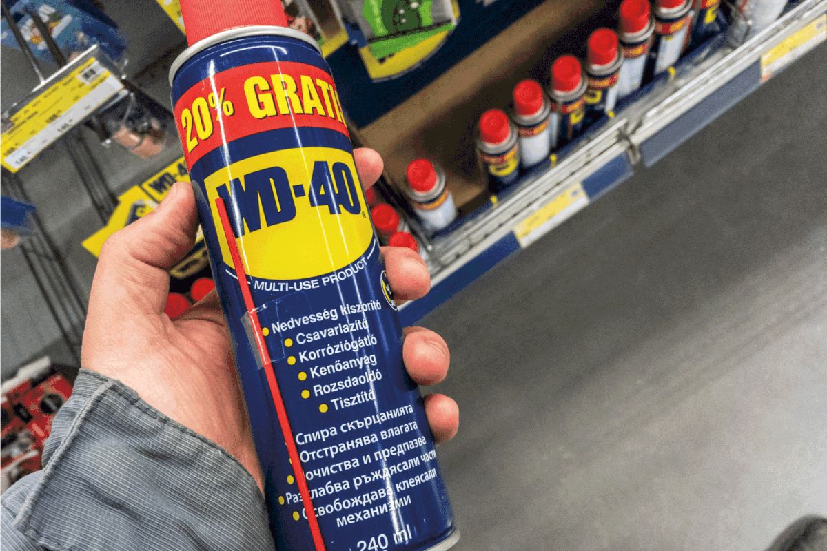WD 40 logo on some of their water displacer sprays for sale